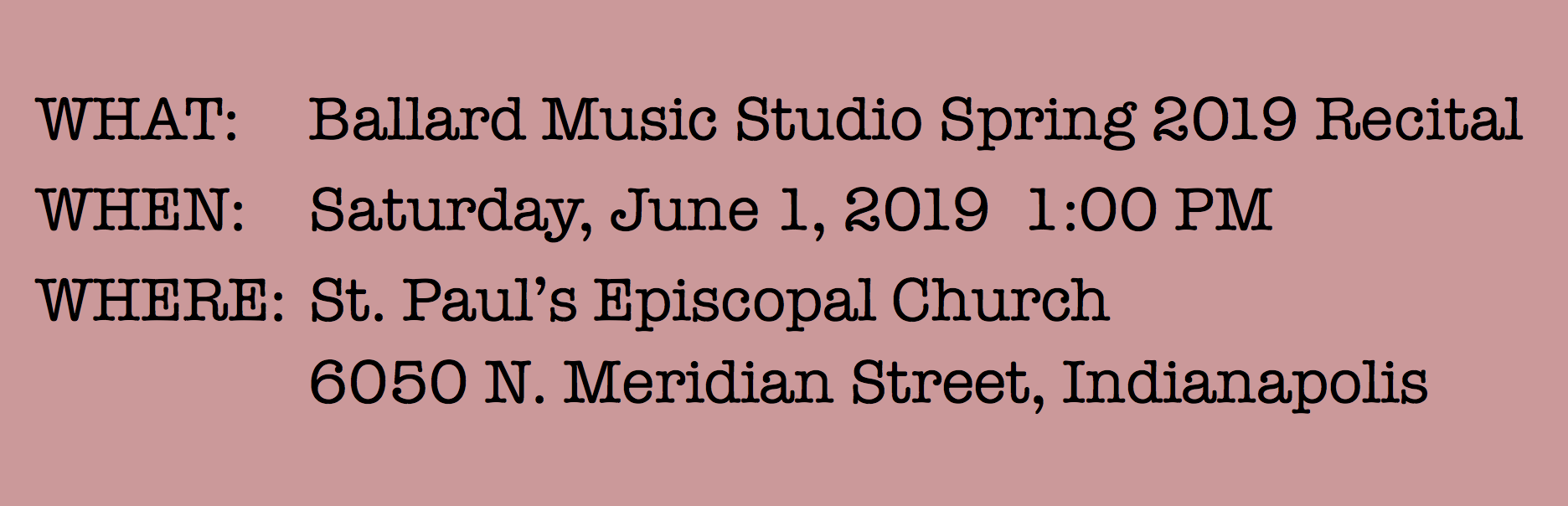 Event: Studio Recital Spring 2019